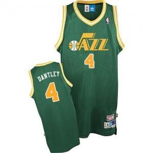 Adidas Maillot Adrian Dantley Utah Jazz #4 vert Homme Throwback