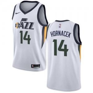 Nike NBA Maillot De Hornacek Utah Jazz Homme Blanc #14 Association Edition