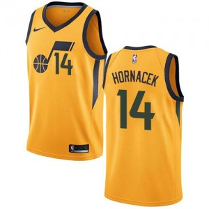 Nike Maillot Basket Jeff Hornacek Utah Jazz Homme Statement Edition No.14 or