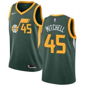 Maillot Basket Mitchell Utah Jazz No.45 vert Enfant Earned Edition Nike