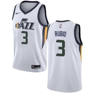 Nike NBA Maillot Basket Ricky Rubio Utah Jazz Blanc Association Edition No.3 Enfant