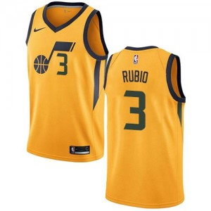 Nike Maillots De Ricky Rubio Utah Jazz or Statement Edition No.3 Enfant