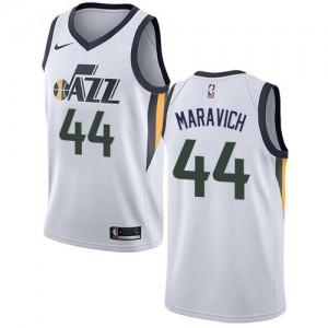 Maillots Maravich Utah Jazz Blanc No.44 Nike Enfant Association Edition