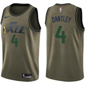 Nike Maillots De Basket Adrian Dantley Utah Jazz No.4 Salute to Service vert Homme