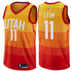 Nike NBA Maillot Basket Dante Exum Jazz City Edition Orange No.11 Enfant