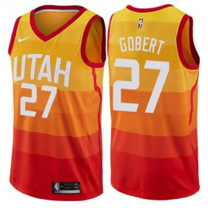 Maillot Rudy Gobert Jazz Enfant No.27 Orange City Edition Nike