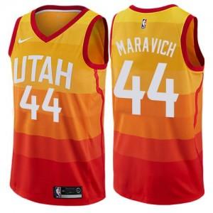 Nike Maillot Basket Maravich Utah Jazz City Edition Orange Enfant No.44