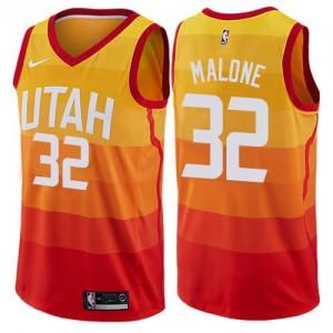 Nike NBA Maillot De Malone Utah Jazz City Edition Enfant Orange #32