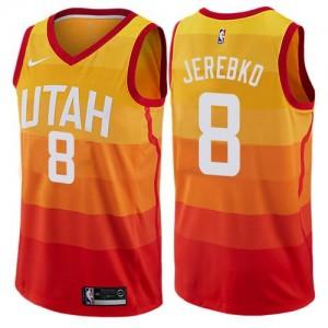 Nike Maillots Basket Jerebko Jazz Enfant Orange City Edition #8
