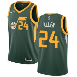 Maillots De Basket Grayson Allen Utah Jazz Homme No.24 Nike Earned Edition vert