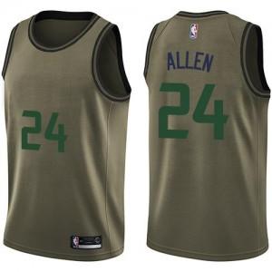 Nike NBA Maillots Basket Allen Utah Jazz #24 Salute to Service Homme vert