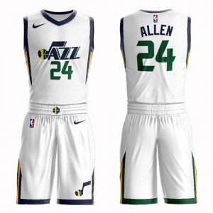 Maillots De Basket Grayson Allen Utah Jazz Blanc Nike Enfant #24 Suit Association Edition