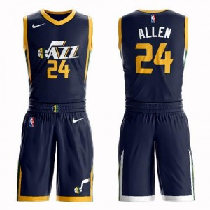 Nike Maillots Grayson Allen Jazz bleu marine Enfant Suit Icon Edition #24