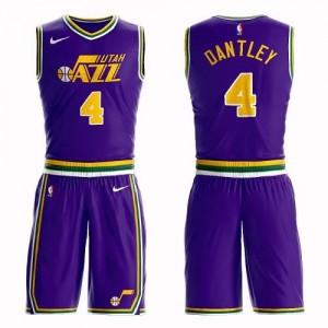Nike Maillot De Basket Dantley Jazz Violet No.4 Homme Suit