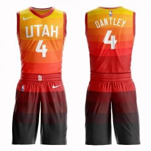 Nike NBA Maillots De Basket Adrian Dantley Utah Jazz Orange Enfant Suit City Edition No.4