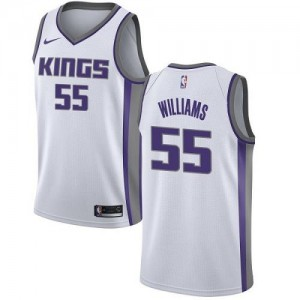 Maillot Jason Williams Sacramento Kings Association Edition Blanc #55 Homme Nike