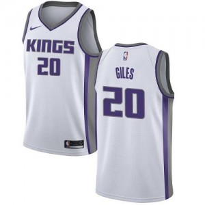 Nike NBA Maillot Basket Giles Sacramento Kings Association Edition Homme #20 Blanc