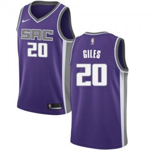 Nike Maillots Harry Giles Sacramento Kings #20 Violet Homme Icon Edition