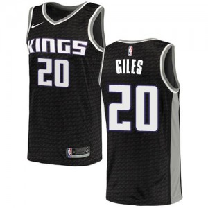 Nike NBA Maillot De Basket Harry Giles Sacramento Kings No.20 Homme Noir Statement Edition