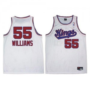 Maillot De Basket Williams Kings Nike Homme Throwback Blanc #55