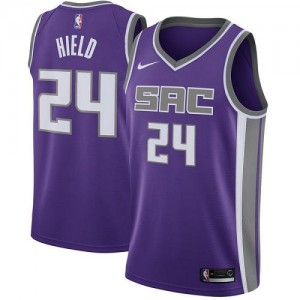 Nike Maillots De Basket Buddy Hield Kings Homme No.24 Violet Icon Edition