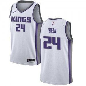 Nike NBA Maillots De Buddy Hield Sacramento Kings Blanc Association Edition #24 Enfant
