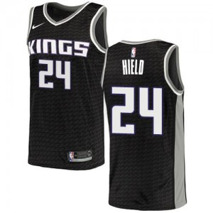 Nike Maillots Buddy Hield Sacramento Kings #24 Noir Statement Edition Enfant