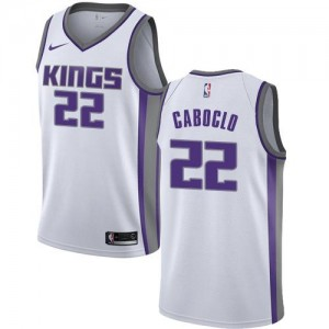 Maillot Caboclo Kings Nike #22 Association Edition Homme Blanc
