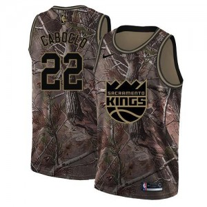 Nike Maillots Bruno Caboclo Sacramento Kings Camouflage Realtree Collection #22 Enfant