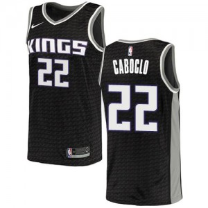 Maillot De Basket Bruno Caboclo Kings Nike Enfant Noir #22 Statement Edition