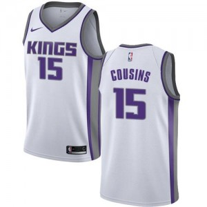 Maillot De Cousins Kings Blanc Nike #15 Association Edition Enfant