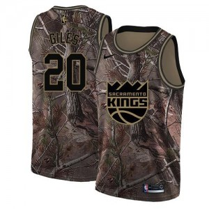 Maillots De Giles Sacramento Kings Camouflage No.20 Realtree Collection Nike Homme