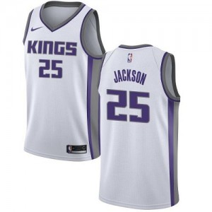 Maillots De Basket Jackson Kings Enfant No.25 Nike Association Edition Blanc