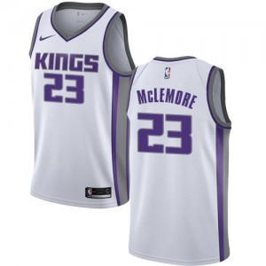 Nike Maillots Basket Ben McLemore Kings Association Edition Blanc Enfant #23