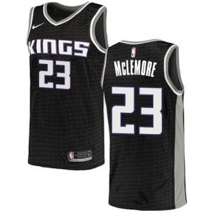 Nike NBA Maillots Basket McLemore Kings Noir No.23 Statement Edition Enfant