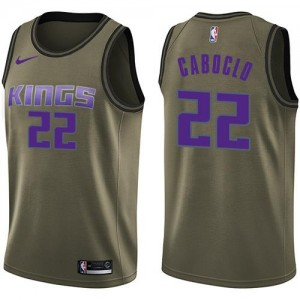 Nike NBA Maillot Basket Caboclo Sacramento Kings Salute to Service vert Homme No.22