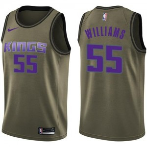 Maillots Basket Williams Kings Salute to Service Homme No.55 vert Nike