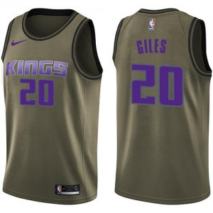Nike Maillot Basket Harry Giles Kings Salute to Service vert No.20 Enfant