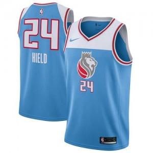 Nike NBA Maillots Basket Buddy Hield Sacramento Kings #24 Bleu City Edition Homme