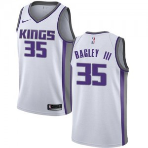 Nike NBA Maillots Bagley III Kings #35 Blanc Association Edition Enfant