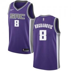 Nike Maillots Basket Bogdan Bogdanovic Kings Homme Icon Edition #8 Violet