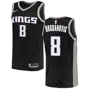 Nike NBA Maillots Bogdanovic Kings Homme No.8 Noir Statement Edition