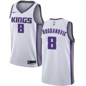 Nike NBA Maillots Bogdanovic Sacramento Kings Blanc No.8 Association Edition Enfant