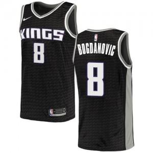 Nike Maillots De Basket Bogdanovic Sacramento Kings Noir #8 Enfant Statement Edition