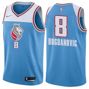 Nike NBA Maillots De Bogdanovic Sacramento Kings Homme Bleu #8 City Edition