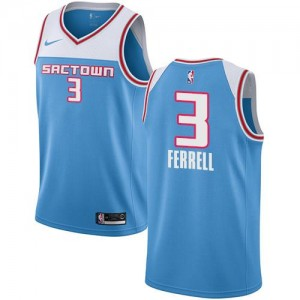 Maillot Yogi Ferrell Sacramento Kings Nike 2018/19 City Edition Bleu #3 Enfant