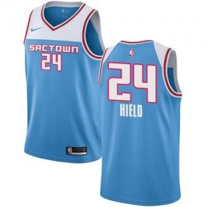 Maillot De Basket Buddy Hield Sacramento Kings Homme 2018/19 City Edition Nike Bleu No.24