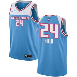 Nike NBA Maillots De Basket Buddy Hield Sacramento Kings 2018/19 City Edition Bleu Enfant #24