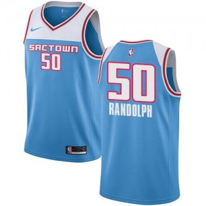 Maillot Randolph Sacramento Kings Bleu Nike Enfant #50 2018/19 City Edition