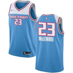 Maillot Basket Ben McLemore Kings Enfant 2018/19 City Edition Nike Bleu #23